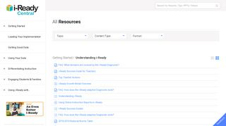 All Resources - i-Ready Central Resources