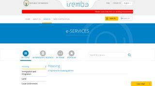 e-SERVICES - IREMBO