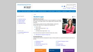 Student Login | Chinook Learning Services