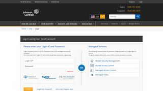 Login to Your Account - Tyco Integrated Security