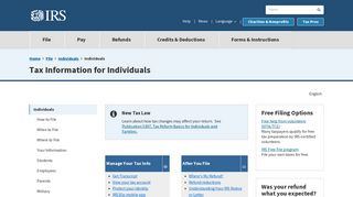 Tax Information for Individuals - IRS.gov