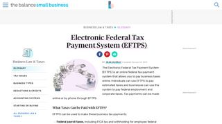 Electronic Federal Tax Payment System - Definition