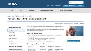 Pay Taxes by Credit or Debit Card | Internal Revenue Service - IRS.gov