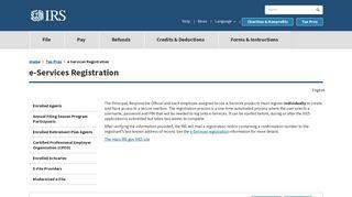 e Services Registration   Internal Revenue Service - IRS.gov