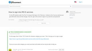 How to sign into IRS E services - Accountants Community