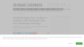 Facebook login error: Is there a problem with Facebook? Why isn't ...