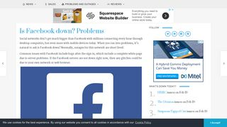 Is Facebook down? Problems, Jan 2019 - Product Reviews Net