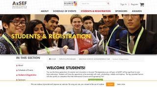 AzSEF: Students | Arizona Science Center