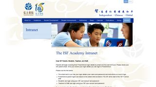 Intranet - The ISF Academy