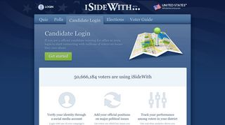 Candidate Login - ISideWith.com