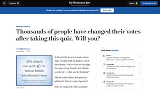 Thousands of people have changed their votes after taking this quiz ...