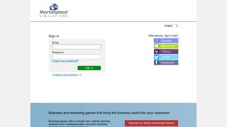 Sign-up or Login to Marketplace® Business Simulations