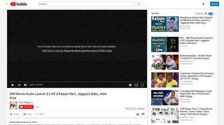 ISM Movie Audio Launch    LIVE    Kalyan Ram, Jagapati Babu, Aditi ...