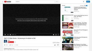 iSqFt 10 Video Series - Accessing an Invitation to Bid - YouTube