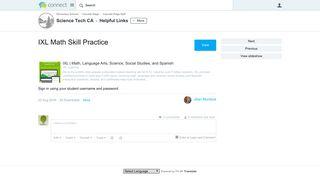 IXL Math Skill Practice - Helpful Links - Science Tech CA - Issaquah ...