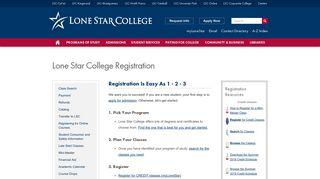Lone Star College Registration