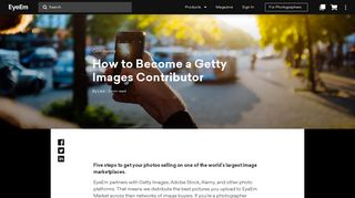 How to Become a Getty Images Contributor   EyeEm