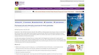 Permanent job and internship vacancies for ... - UiTM Student Portal