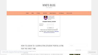 How To Login to i-Learn UiTM (Student Portal UiTM) for ... - WND's Blog