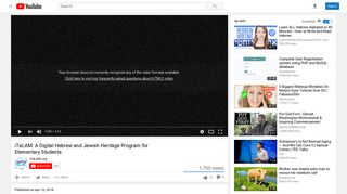 iTaLAM: A Digital Hebrew and Jewish Heritage Program for ... - YouTube
