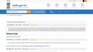 Website of Income Tax Department   National Portal of India