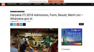 Haryana ITI 2018 Admission, Form, Result, Merit List – itiharyana.gov.in