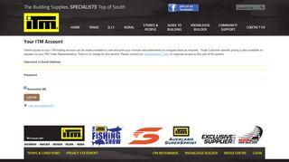 Your ITM Account - ITM Building ConneXion Ltd - ITM Building Supplies