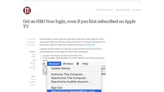 Get an HBO Now login, even if you first subscribed on Apple TV ...