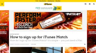 How to sign up for iTunes Match | iMore