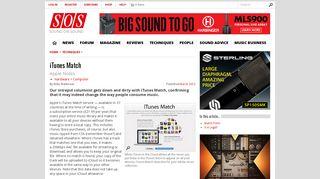 iTunes Match | - Sound On Sound