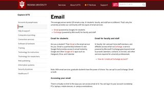Email | University Information Technology Services - UITS - Indiana ...