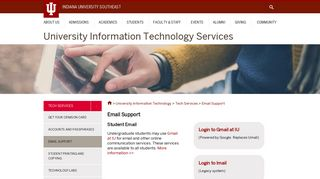 Email Support : Indiana University Southeast
