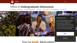Office of Undergraduate Admissions: IUPUI