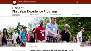 Orientation: Office of First Year Experience Programs: Indiana ...