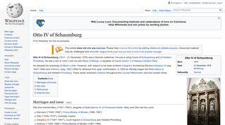Otto IV of Schaumburg - Wikipedia
