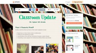Classroom Update | Smore Newsletters for Education