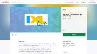 IXL Live - Minneapolis, MN (March 21) Registration, Thu, Mar 21 ...