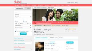 Brahmin - Iyengar Matrimonials - No 1 Site for Brahmin ... - Shaadi.com