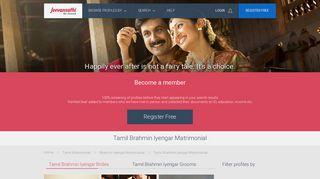 Tamil Brahmin Iyengar Matrimonial - Jeevan Sathi