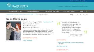 Login, Iza and Samo | Glasspockets