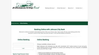 Johnson City Bank > Online Services > Online Banking
