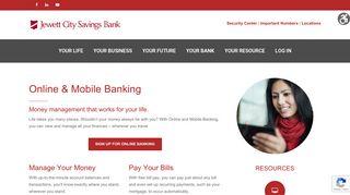 Online & Mobile Banking – Jewett City Savings Bank