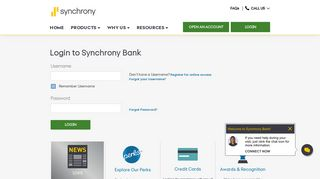 Synchrony Bank - Login