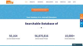 J-Gate – Largest e-Journal Gateway   Journal Finder   Journal ...