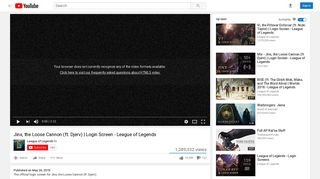 Jinx, the Loose Cannon (ft. Djerv) | Login Screen - League of Legends ...