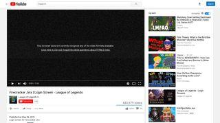 Firecracker Jinx | Login Screen - League of Legends - YouTube