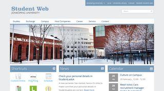 Student Web | Jönköping University - Jönköping University