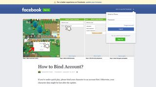 How to Bind Account? | Facebook