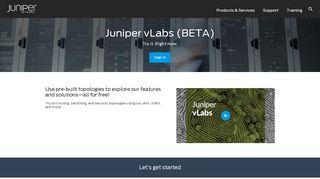 Juniper vLabs - Juniper Networks - Juniper Labs