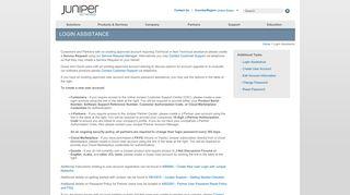 Login Assistance - Juniper Networks